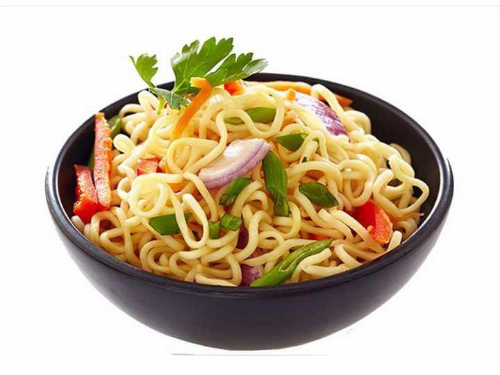 一碗美味的洋葱拌面美食面条png图片免抠素材