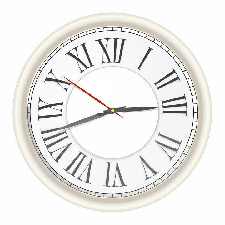 古罗马数字的时钟表盘png图片免抠矢量素材 生活素材-第1张