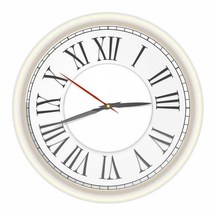 古罗马数字的时钟表盘png图片免抠矢量素材