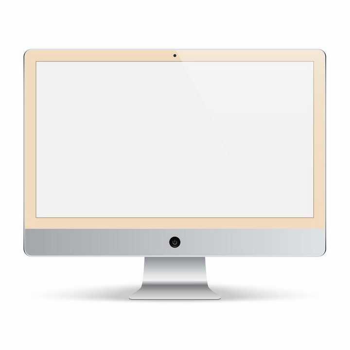 金色边框的电脑显示器png图片免抠矢量素材
