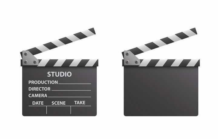 逼真的金属色场记牌拍电影道具png图片免抠矢量素材