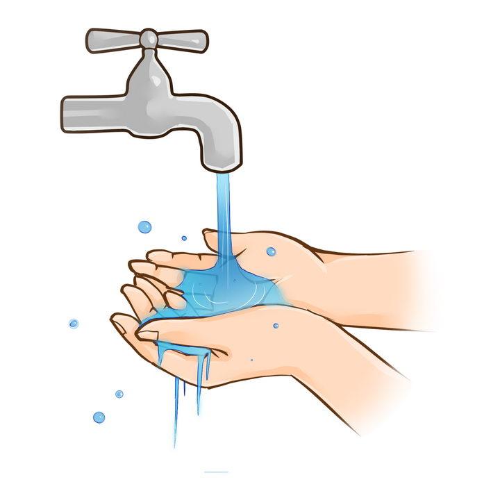 拧开水龙头洗手png图片免抠素材 健康医疗-第1张