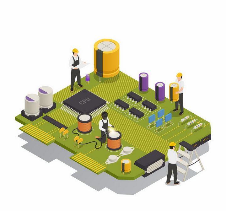创意抽象集成电路和象征人工智能png图片免抠矢量素材 IT科技-第1张