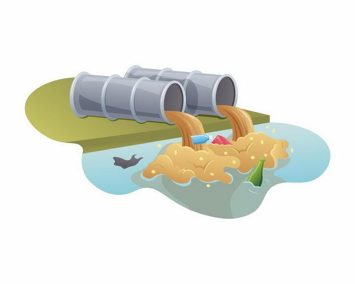 废水排污管环境污染png图片免抠矢量素材 工业生产-第1张