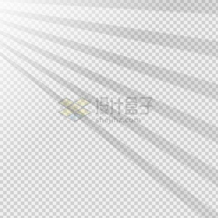 阳光透过条形窗格在墙上的影子png图片免抠矢量素材