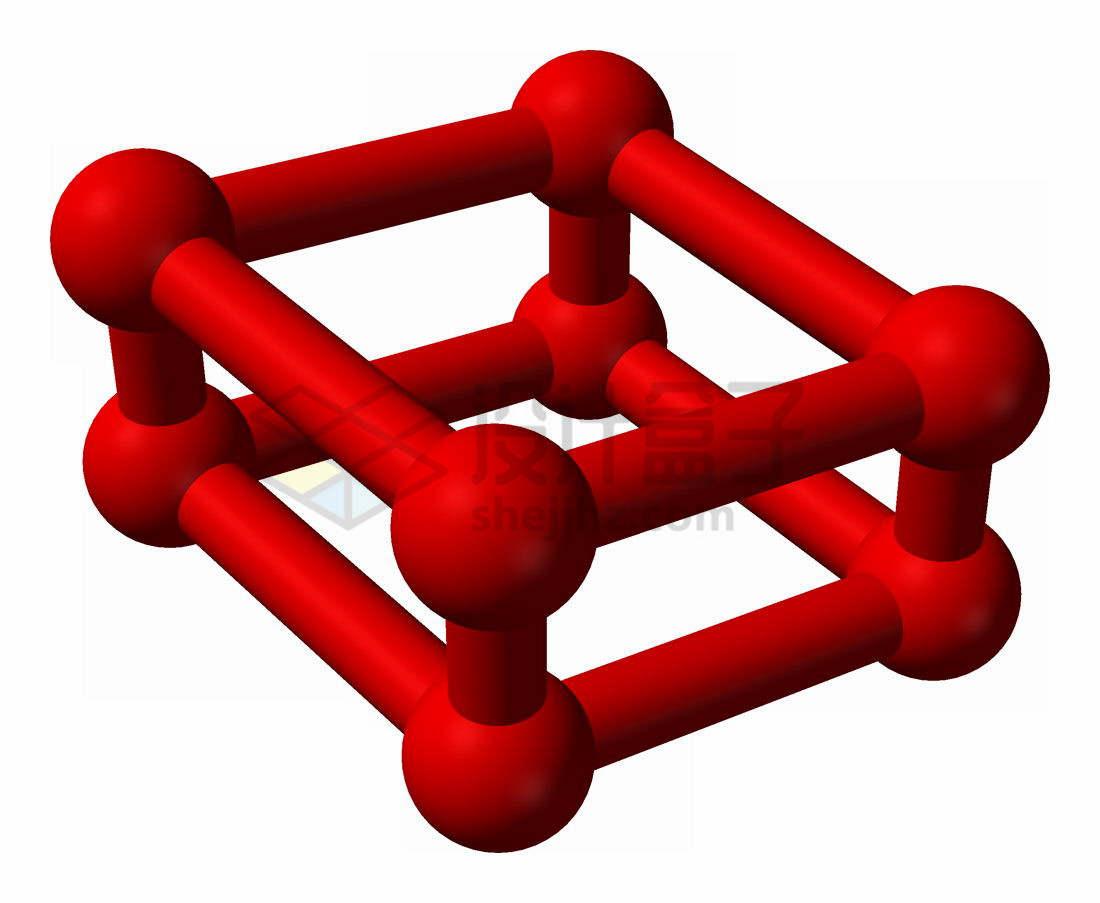 红氧分子结构图氧的一种单质物理结构