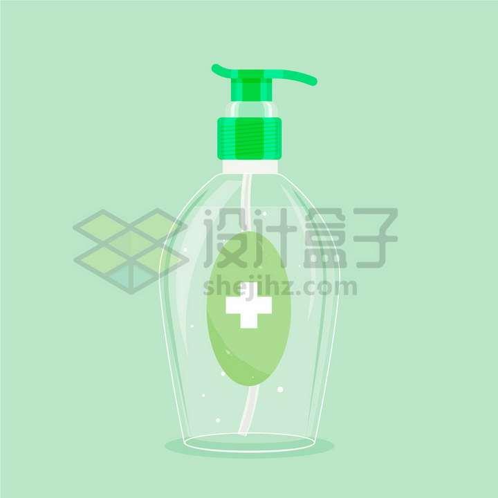 一款半透明的洗手液瓶子png图片免抠矢量素材
