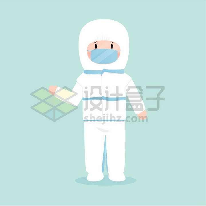 戴口罩身穿防护服的医疗人员png图片免抠矢量素材
