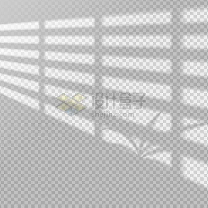 阳光透过栅栏窗户在墙上的影子png图片免抠矢量素材