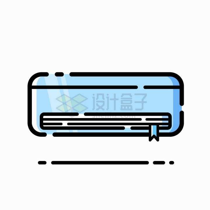 MBE风格蓝色的空调png图片免抠矢量素材