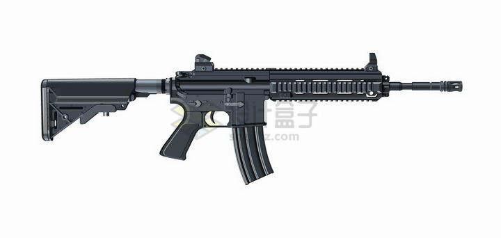 PUBG绝地求生吃鸡游戏中的M416步枪png图片免抠矢量素材
