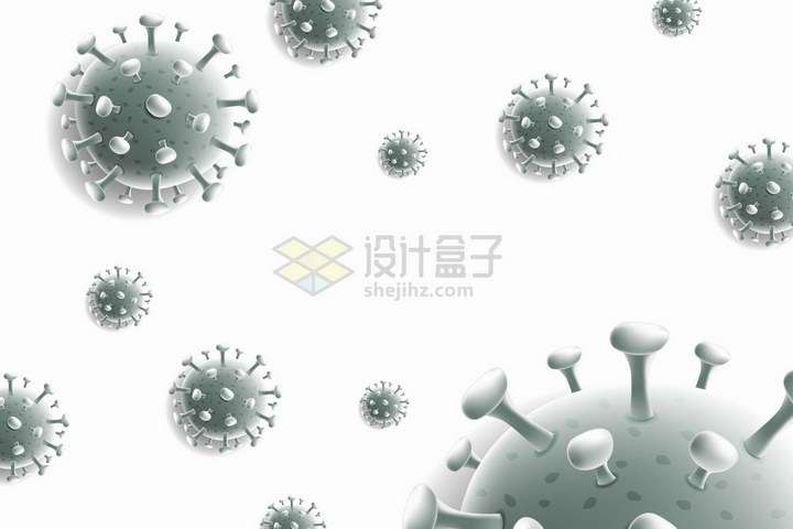 悬浮着的3D新型冠状病毒png图片免抠矢量素材