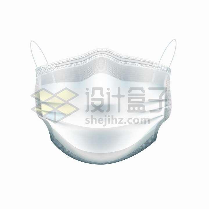 白色一次性医用口罩纱布口罩正面图png图片免抠矢量素材