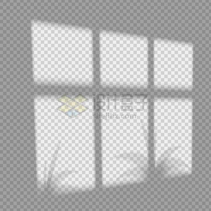 普通的窗户树叶影子png图片免抠矢量素材