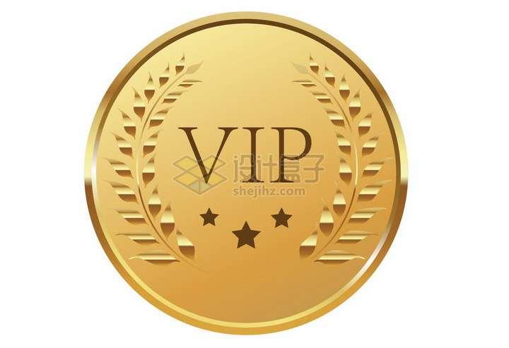 VIP金币会员勋章标志png图片免抠矢量素材