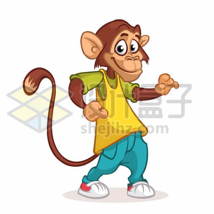 身穿球衣的卡通猴子png图片免抠矢量素材
