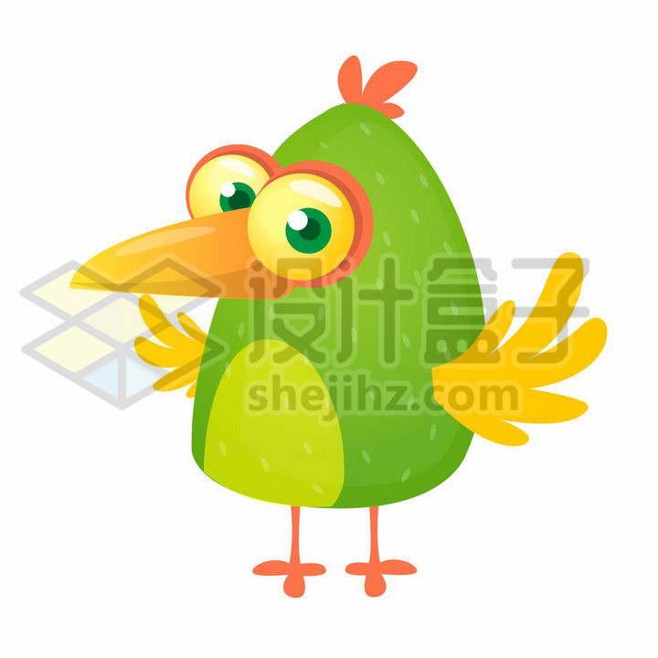 绿色的卡通小鸟愤怒的小鸟png图片免抠矢量素材
