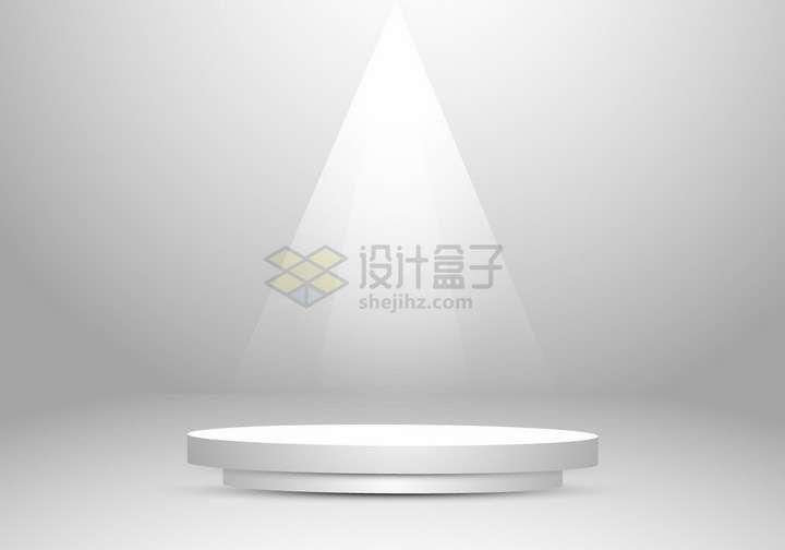 灯光照射下的圆形展台舞台背景图png图片免抠矢量素材