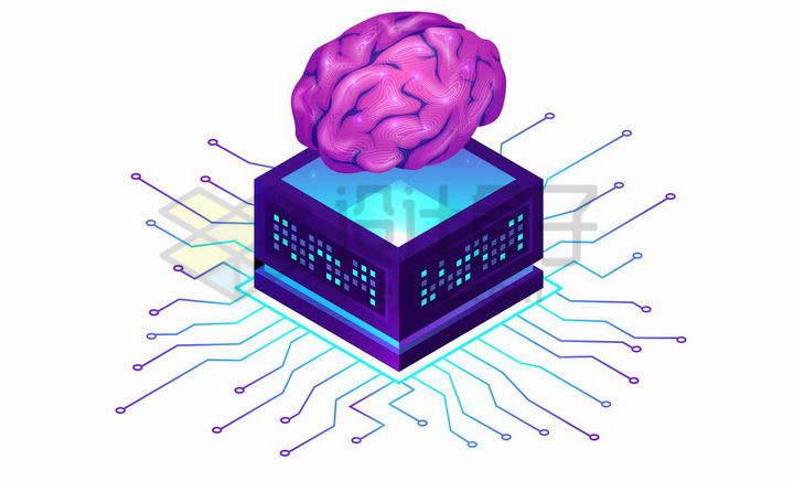 抽象大脑象征了人工智能的应用png图片免抠矢量素材