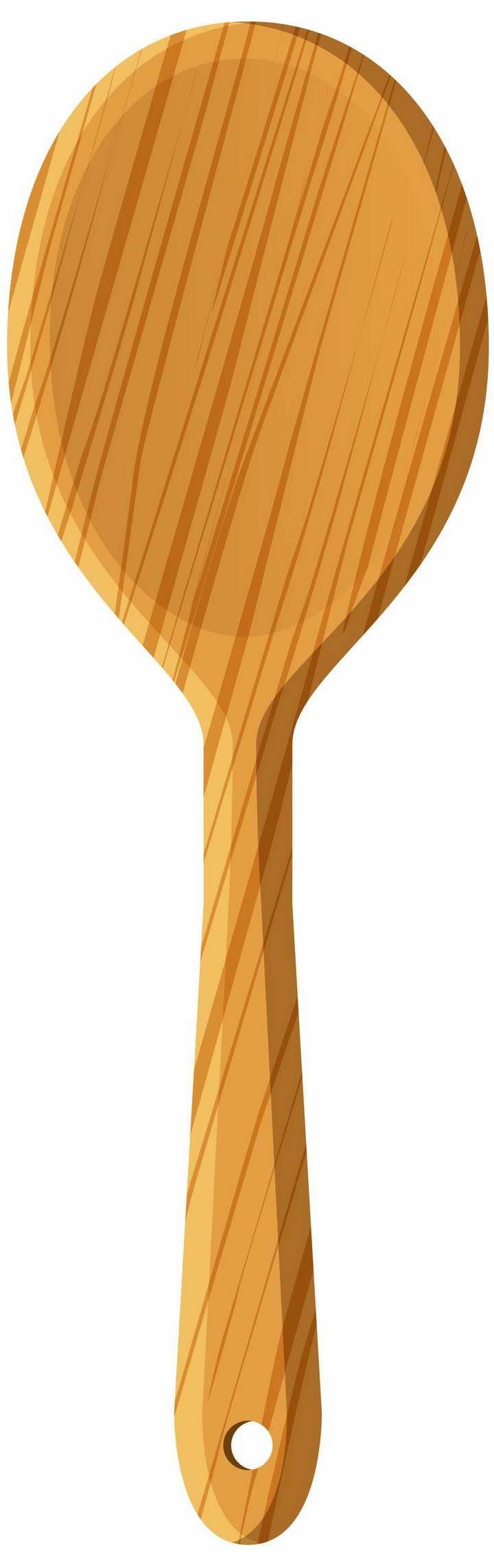 木制木头木纹勺子饭勺厨具png图片免抠素材