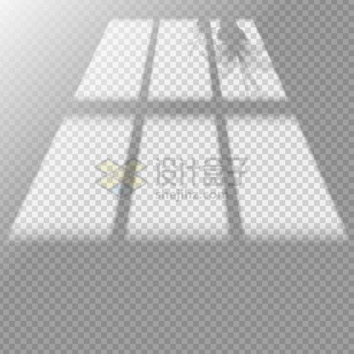 阳光透过方形窗户在墙上的影子png图片免抠矢量素材