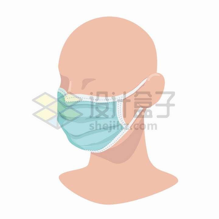 塑料人体模型上口罩的正确戴法png图片免抠矢量素材