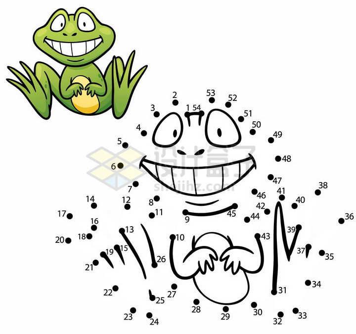 儿童绘画游戏画一只青蛙png图片免抠素材