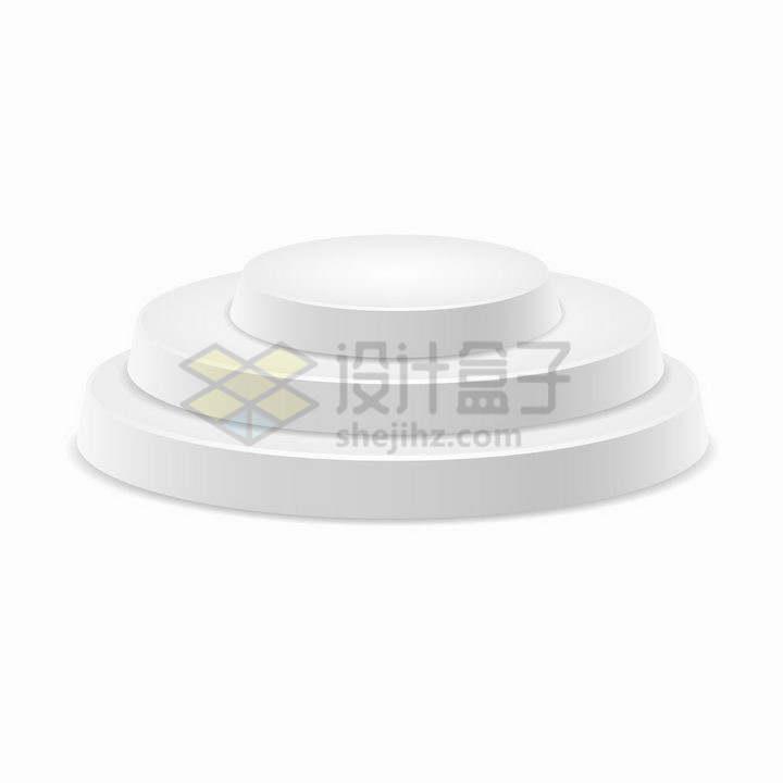 白色圆形三阶台阶圆形展台舞台png图片免抠矢量素材