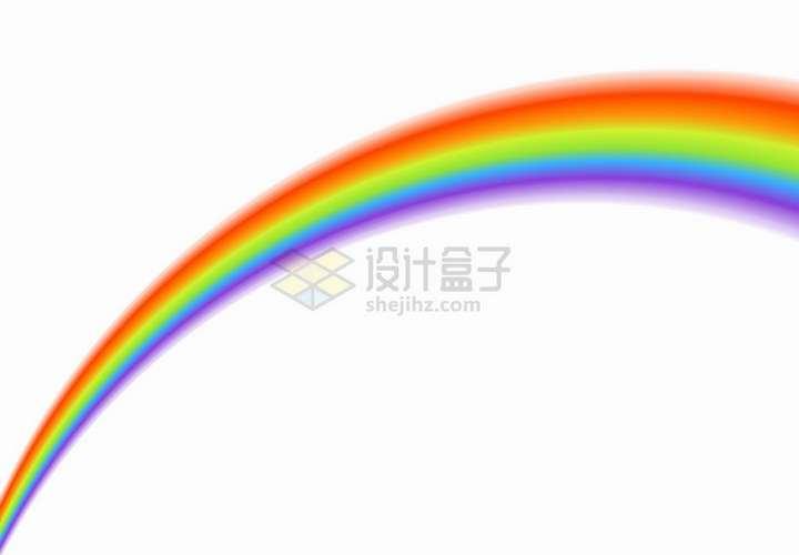 伸向远方的七彩虹png图片免抠矢量素材