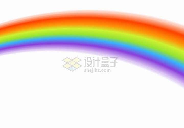 模糊的七彩虹装饰png图片免抠矢量素材