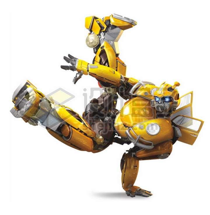 大黄蜂变形金刚正在跳街舞png图片免抠素材