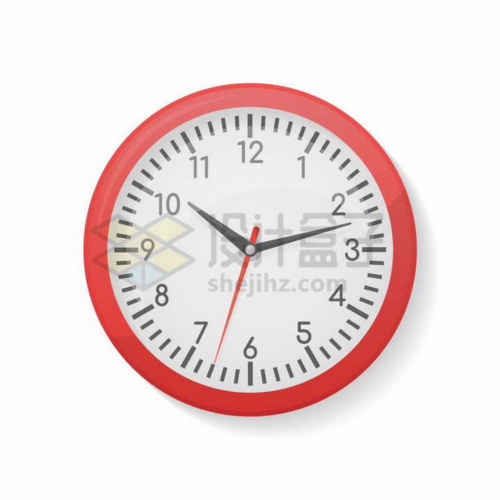 红色边框的时钟时间工具png图片免抠矢量素材