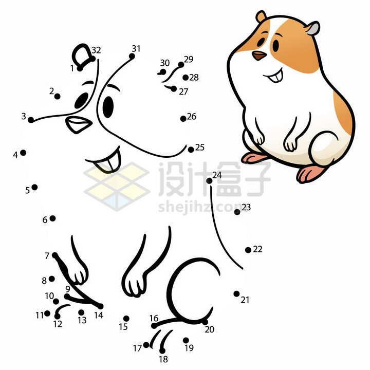儿童绘画游戏画一只仓鼠png图片免抠素材