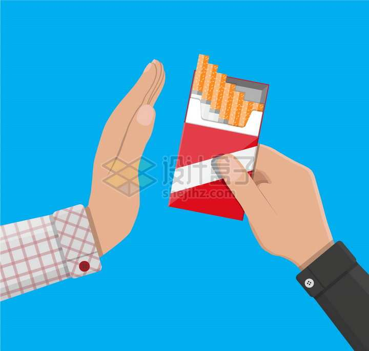 把香烟盒递给别人拒绝抽烟吸烟有害健康png图片素材