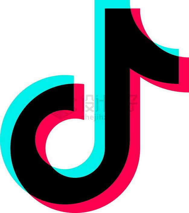 白底抖音APP  logo标志png图片素材