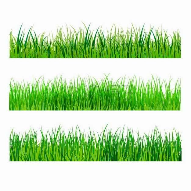 3款逼真的青草地装饰png图片免抠矢量素材
