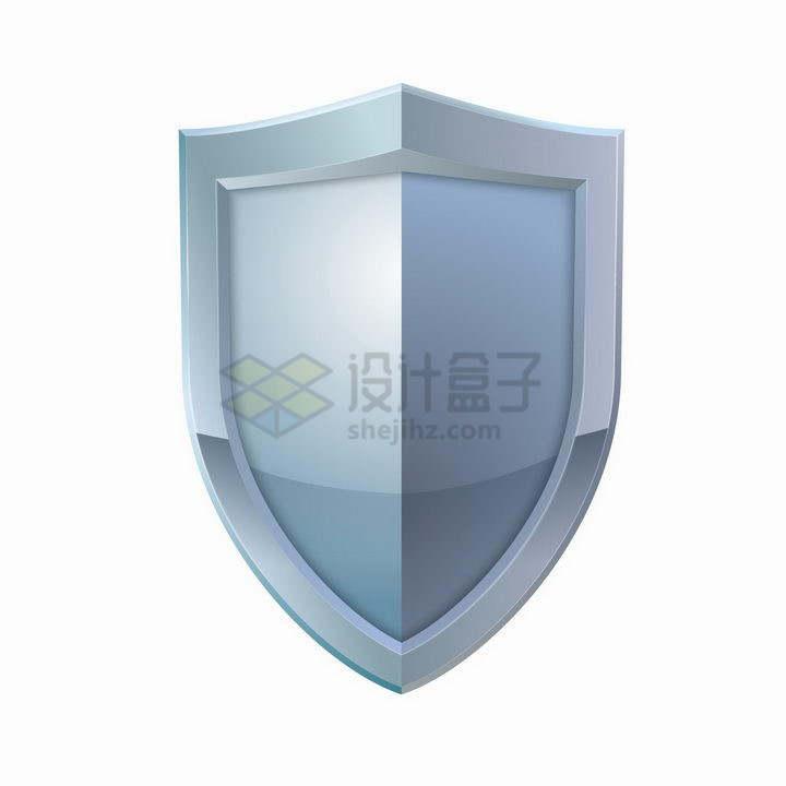 银色金属色盾牌防护盾png图片免抠矢量素材
