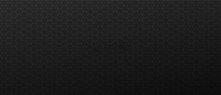 边缘发光的六边形花纹组成的金属质感黑色背景图png图片免抠矢量素材