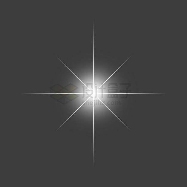 白色的星光星芒光芒效果png图片素材675492