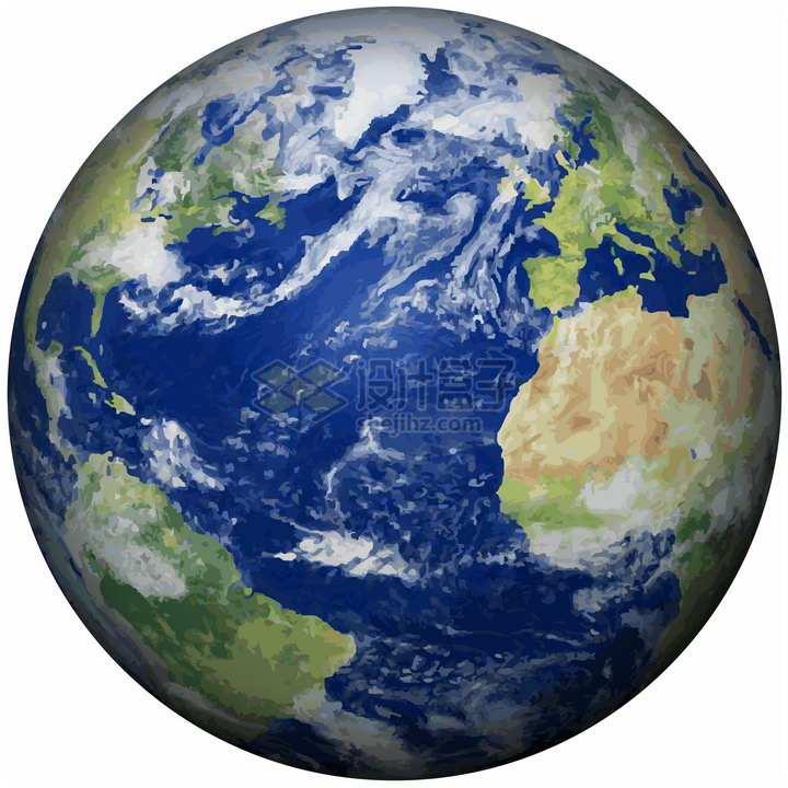 抽象多边形组成的高清地球png图片免抠素材