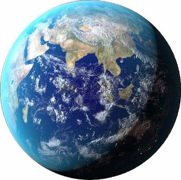 高清谷歌地球可以看到亚洲大陆和印度洋png图片免抠素材
