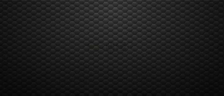 六边形花纹组成的金属质感黑色背景图png图片免抠矢量素材