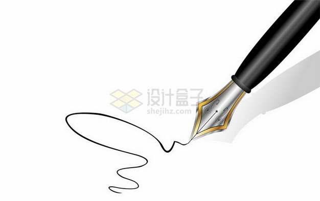 钢笔正在纸上写写画画png图片免抠矢量素材