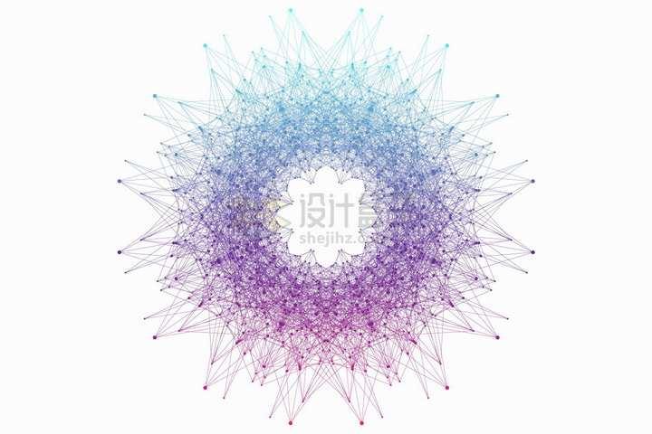 杂乱无章的彩色圆点和线条组成的抽象图案花纹png图片免抠矢量素材