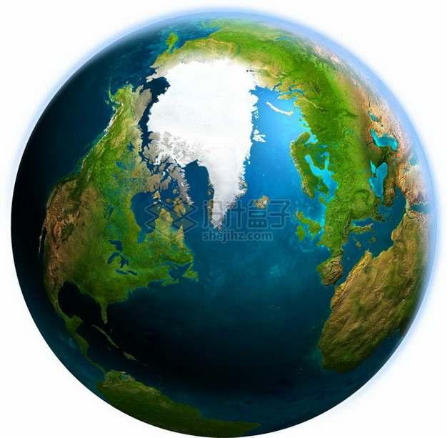 超级漂亮的高清谷歌地球可以看到格陵兰岛和北大西洋png图片免抠素材