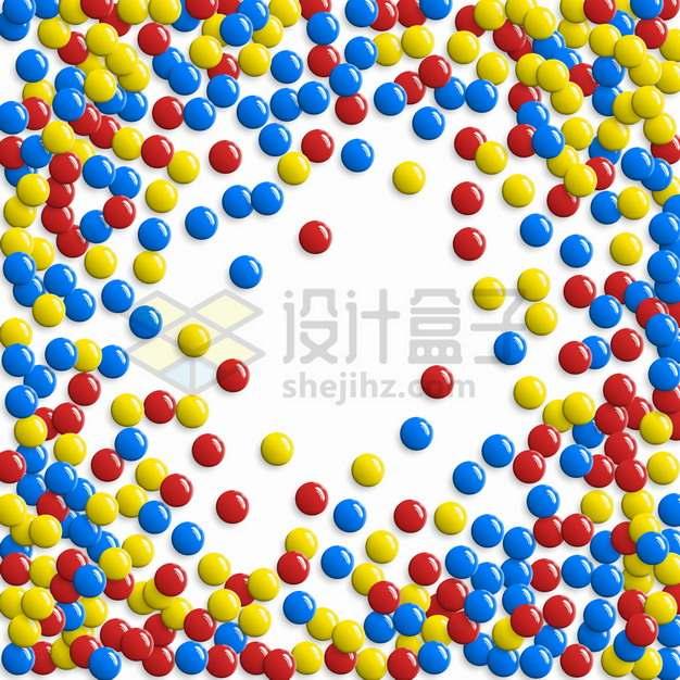 各种彩色圆球棋子装饰背景图png图片素材