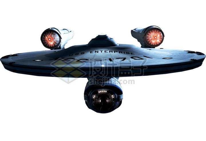 星际迷航企业号星舰正面照科幻飞船png图片免抠素材