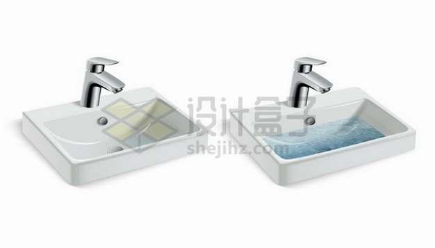 常见的家用洗手池卫生间设施png图片免抠矢量素材