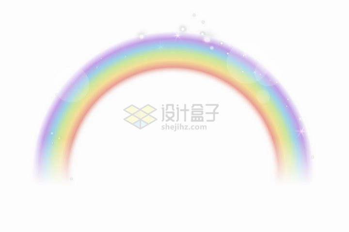 带有光晕的模糊七彩虹装饰png图片免抠矢量素材