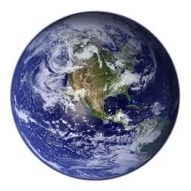 高清谷歌地球可以看到北美大陆和太平洋png图片免抠素材